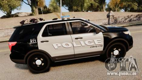 Ford Explorer 2013 LCPD [ELS] Black and Gray pour GTA 4 est une gauche