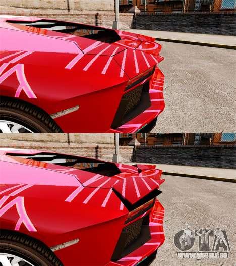 Lamborghini Aventador LP700-4 2012 [EPM] Miku pour GTA 4 est une vue de l'intérieur