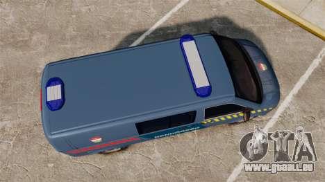 Volkswagen Transporter T5 Hungarian Police [ELS] pour GTA 4 est un droit