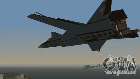 Su-47 Berkut für GTA Vice City rechten Ansicht