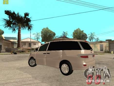 Toyota Estima KZ Edition 4wd pour GTA San Andreas vue arrière