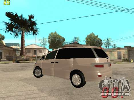 Toyota Estima KZ Edition 4wd für GTA San Andreas Rückansicht
