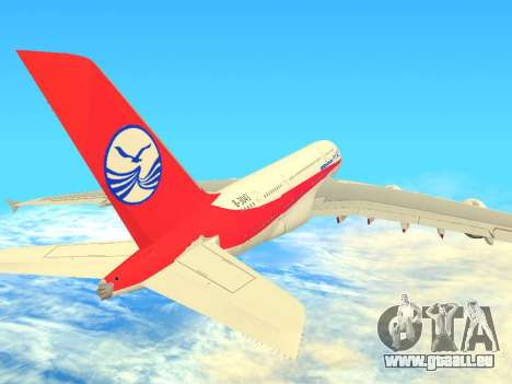 Airbus  A380-800 Sichuan Airlines pour GTA San Andreas vue arrière