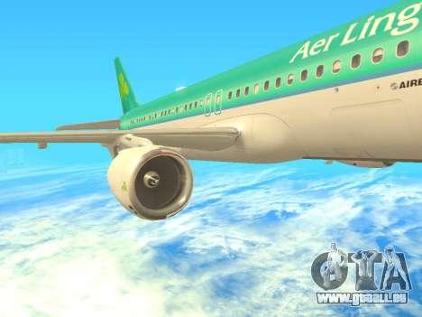 Airbus A320-200 Aer Lingus pour GTA San Andreas vue de côté
