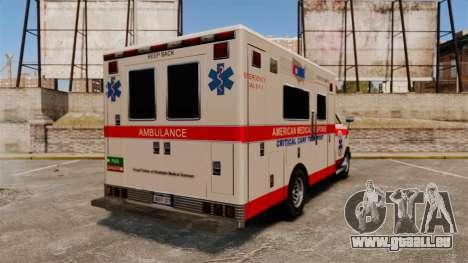 Brute Ambulance v2.1-SH pour GTA 4 Vue arrière de la gauche