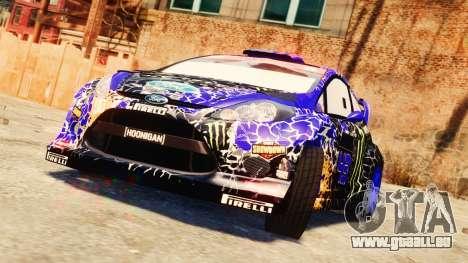 Ford Fiesta 2013 pour GTA 4 vue de dessus