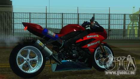 Kawasaki Ninja ZX-6R pour GTA San Andreas laissé vue
