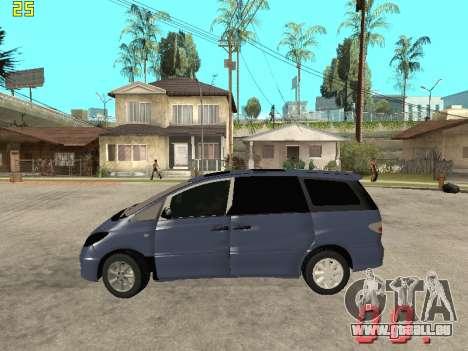 Toyota Estima KZ Edition 4wd pour GTA San Andreas laissé vue