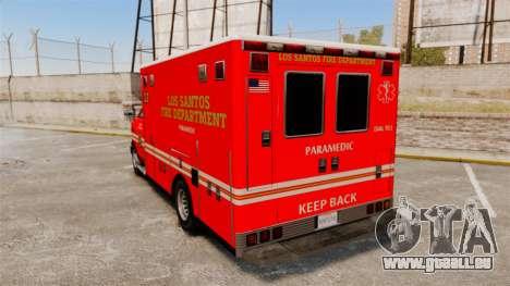 Brute LSFD Paramedic pour GTA 4 Vue arrière de la gauche