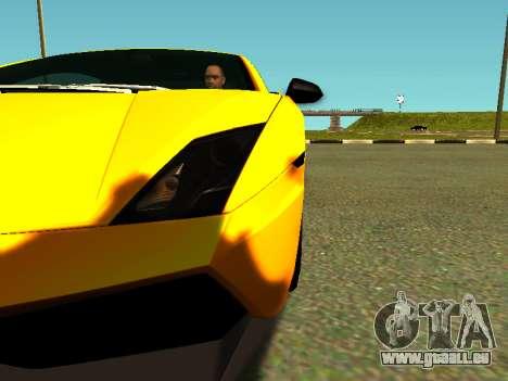 Lamborghini Gallardo Super Trofeo Stradale pour GTA San Andreas vue intérieure