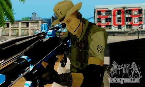 Resident Evil Apocalypse S.T.A.R.S. Sniper Skin pour GTA San Andreas huitième écran