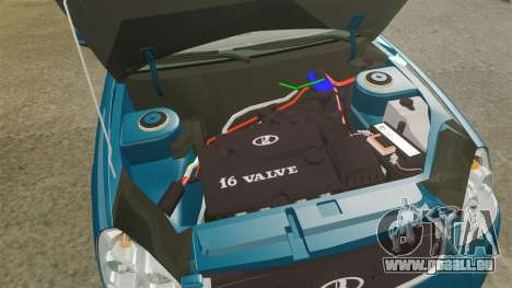 VAZ-2170 pour GTA 4 est une vue de l'intérieur