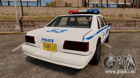 GTA SA Police Cruiser LCPD [ELS] pour GTA 4 Vue arrière de la gauche