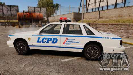 GTA SA Police Cruiser LCPD [ELS] pour GTA 4 est une gauche