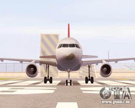 Airbus A320 NWA für GTA San Andreas linke Ansicht