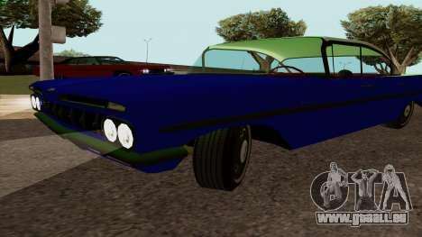 Chevrolet Bel Air De 1959 pour GTA San Andreas vue de droite