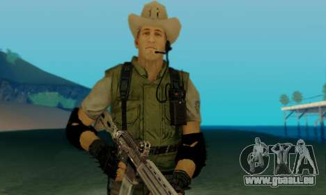 Resident Evil Apocalypse S.T.A.R.S. Sniper Skin für GTA San Andreas her Screenshot