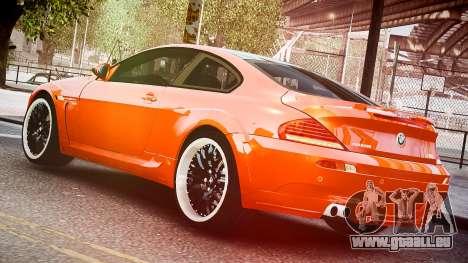 BMW M6 Hamann Widebody v2.0 pour GTA 4 est une gauche