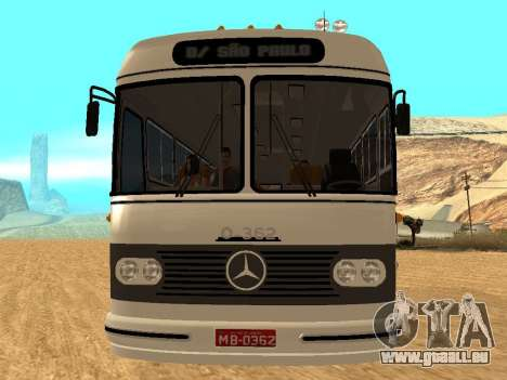 Mercedes Benz Mb O362 pour GTA San Andreas vue arrière