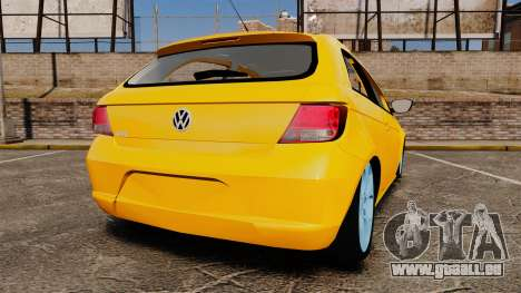Volkswagen Gol G5 3 Puertas pour GTA 4 Vue arrière de la gauche