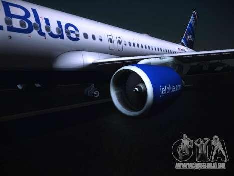 Airbus A320 JetBlue pour GTA San Andreas vue de droite
