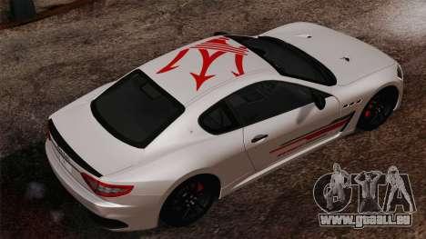 Maserati GranTurismo MC Stradale pour GTA San Andreas laissé vue