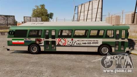 Iranische Farbe bus für GTA 4 linke Ansicht
