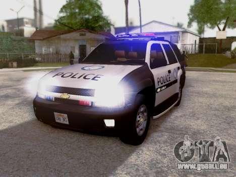 Chevrolet TrailBlazer Police pour GTA San Andreas laissé vue