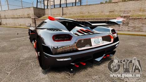 Koenigsegg One:1 für GTA 4 hinten links Ansicht