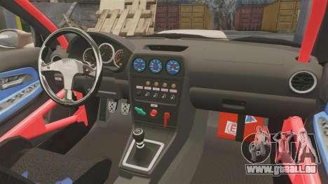 Subaru Impreza WRX STI 2004 pour GTA 4 est une vue de l'intérieur