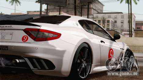 Maserati GranTurismo MC Stradale für GTA San Andreas Rückansicht