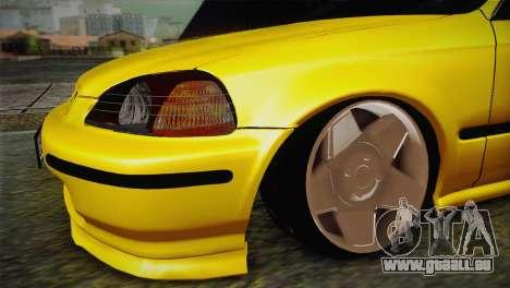 Honda Civic Edit Mehmet ALAN pour GTA San Andreas vue de droite