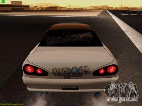 Vinyls pour Élégie pour GTA San Andreas sur la vue arrière gauche