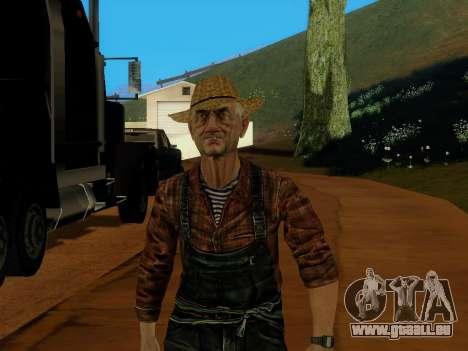 Agriculteur ou modifiée et complétée pour GTA San Andreas troisième écran