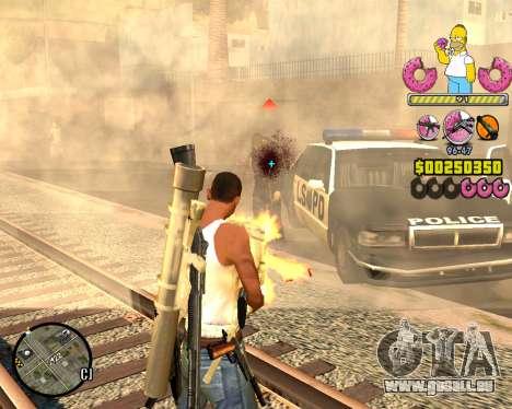 C-HUD Mr. Simpson für GTA San Andreas dritten Screenshot