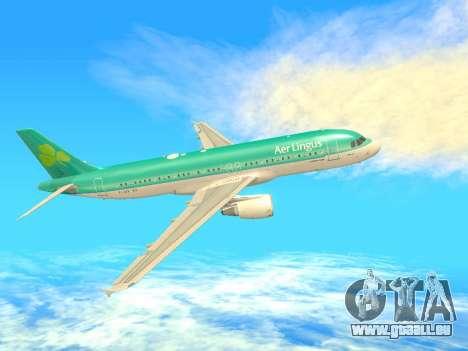 Airbus A320-200 Aer Lingus pour GTA San Andreas vue de droite