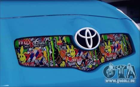 Toyota Yaris Hellaflush Young Child pour GTA San Andreas vue de côté