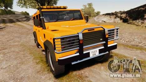 Land Rover Defender tecnovia [ELS] pour GTA 4