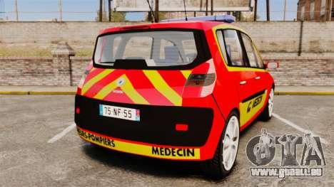 Renault Scenic Medicin v2.0 [ELS] pour GTA 4 Vue arrière de la gauche