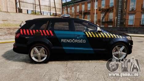 Audi Q7 Hungarian Police [ELS] pour GTA 4 est une gauche