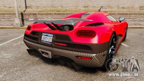 Koenigsegg Agera R [EPM] NFS für GTA 4 hinten links Ansicht