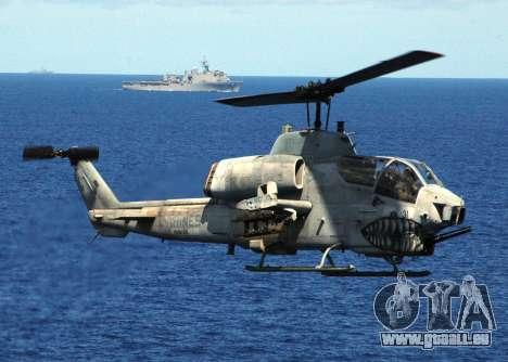 AH-1W Super Cobra pour GTA San Andreas vue de dessous