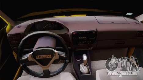 Honda Civic Edit Mehmet ALAN pour GTA San Andreas vue arrière