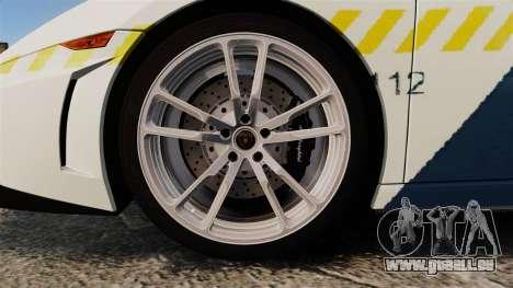Lamborghini Gallardo Hungarian Police [ELS] für GTA 4 Rückansicht