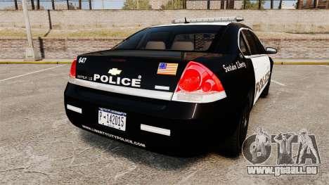 Chevrolet Impala 2008 LCPD [ELS] für GTA 4 hinten links Ansicht
