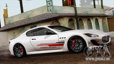Maserati GranTurismo MC Stradale für GTA San Andreas zurück linke Ansicht
