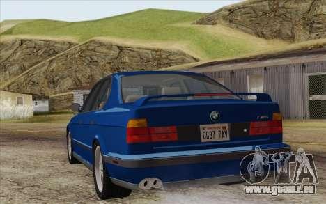 BMW M5 E34 1994 NA-spec pour GTA San Andreas laissé vue