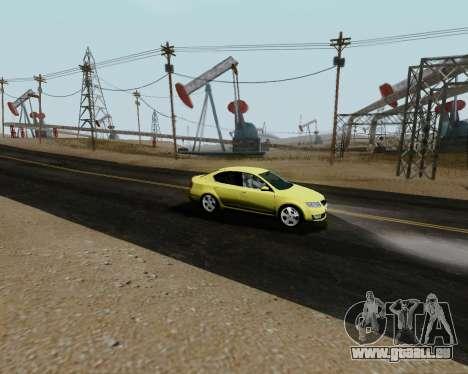Skoda Octavia A7 für GTA San Andreas rechten Ansicht
