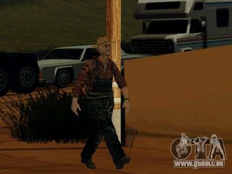 Agriculteur ou modifiée et complétée pour GTA San Andreas quatrième écran