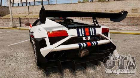 Lamborghini Gallardo LP570-4 Martini Raging für GTA 4 hinten links Ansicht